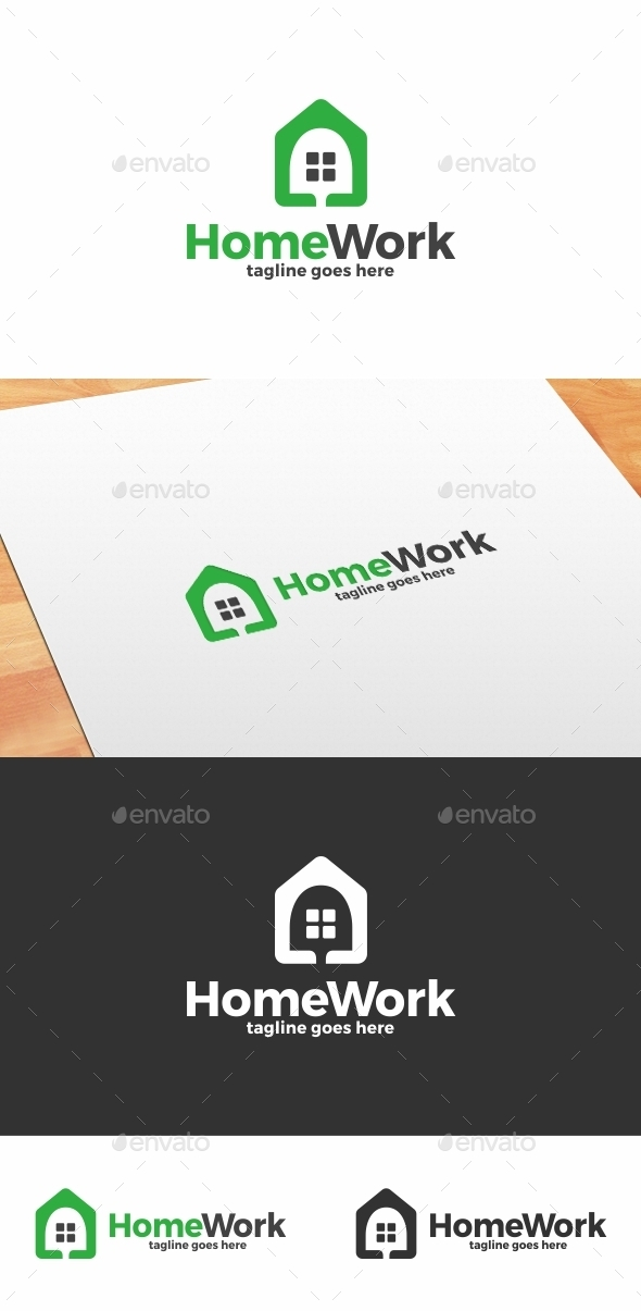 Home Work Logo - Buildings Logo Templates
