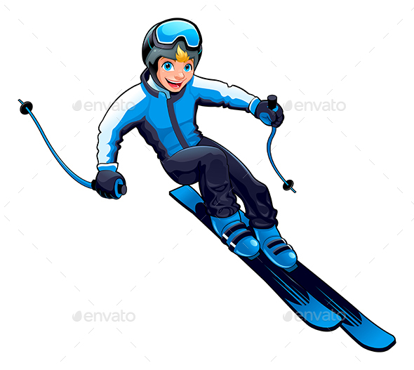 Young Skier - Sports/Activity Conceptual