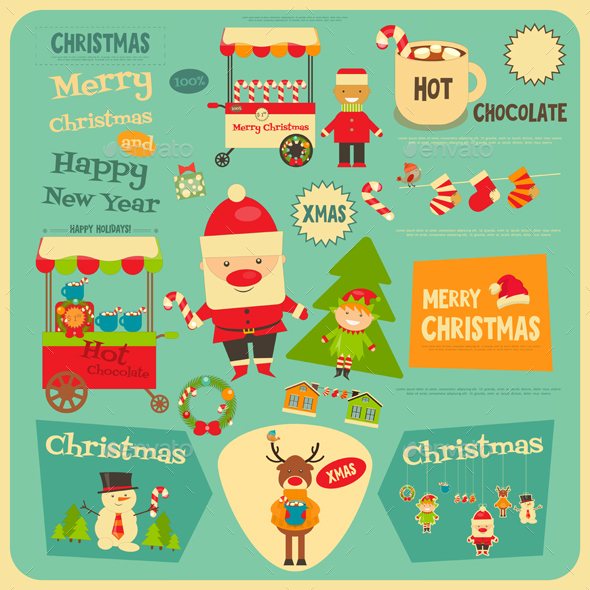 Set of Christmas Characters - Christmas Seasons/Holidays