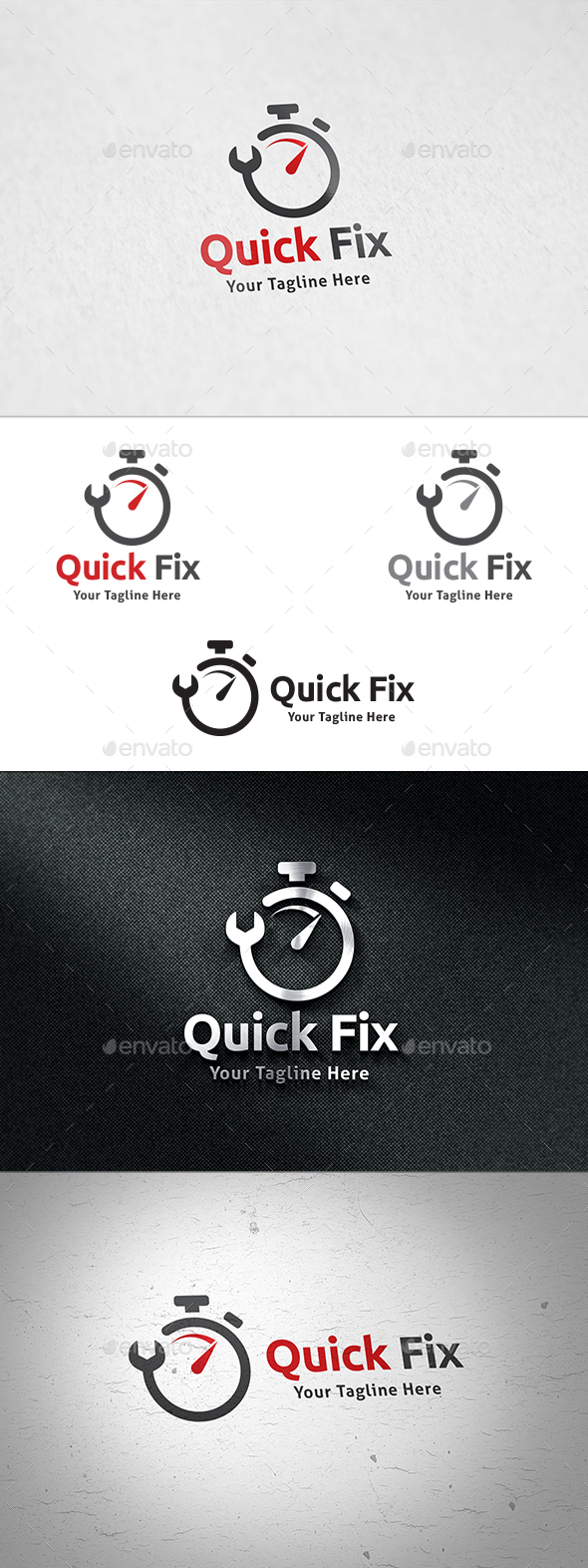 Quick Fix Logo - Objects Logo Templates