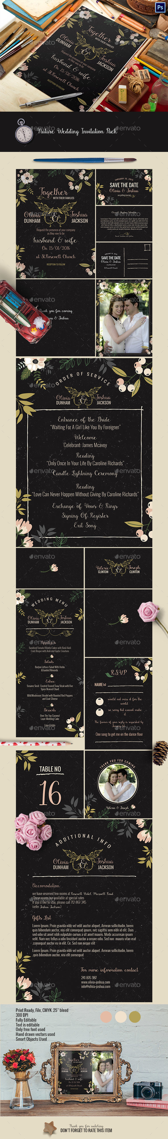 Nature Wedding Invitation Pack - Weddings Cards & Invites
