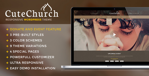 CuteChurch — Responsive Nonprofit Multi WP Theme