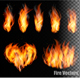 Fire on Transparent Background Vector - GraphicRiver Item for Sale