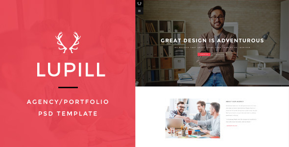 Lupill – Agency/Portfolio PSD Template