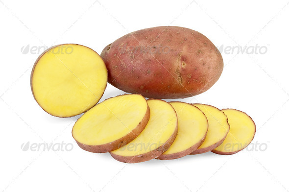 Potatoes sliced - Stock Photo - Images