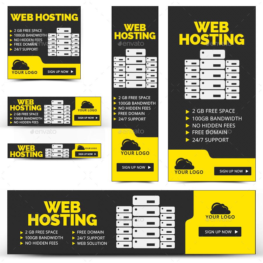 Free web hosting no banner - Red 718 Web Hosting Banners_preview Image Set Red 718 Web Hosting Banners_preview1 Jpg