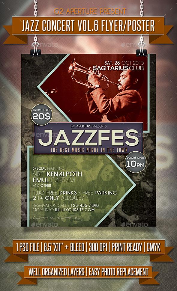 Jazz Concert Flyer / Poster Vol.6 - Events Flyers