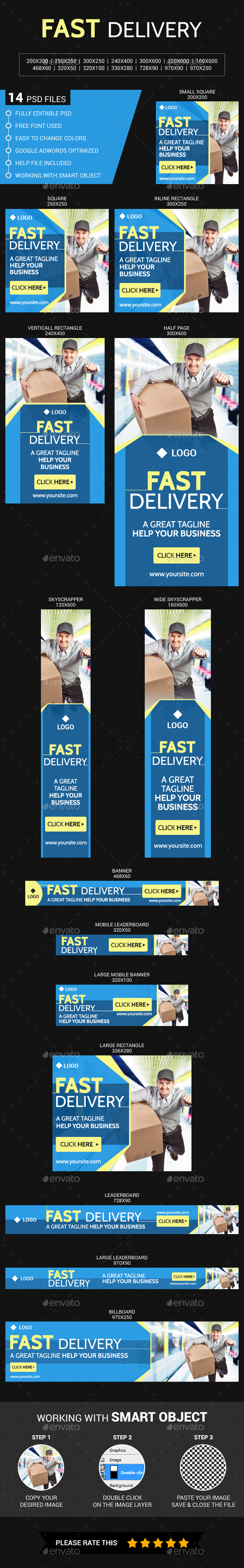 Fast Delivery - Banners & Ads Web Elements