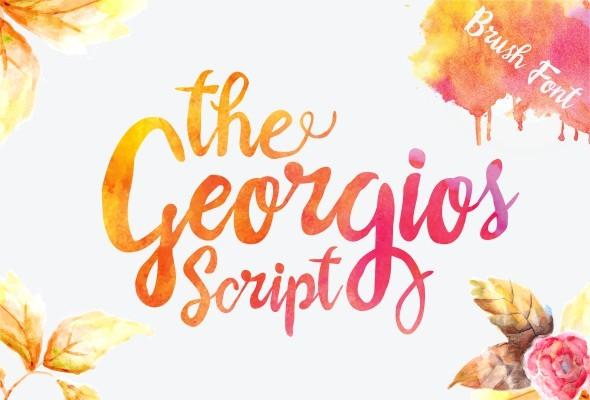 The Georgios Font - Script Fonts