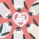 Happy Birthday, Funny Penguins On Pink Background - GraphicRiver Item for Sale