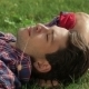 Man In The Park Lying On The Grass - VideoHive Item for Sale