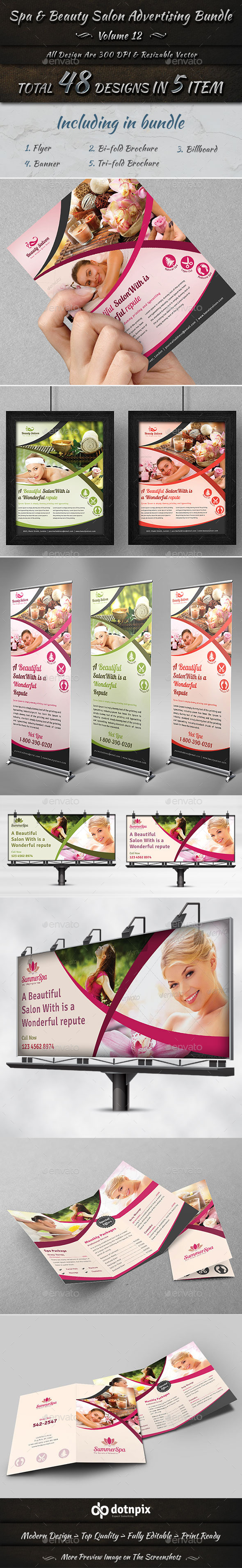 Spa & Beauty Salon Advertising Bundle Volume 12