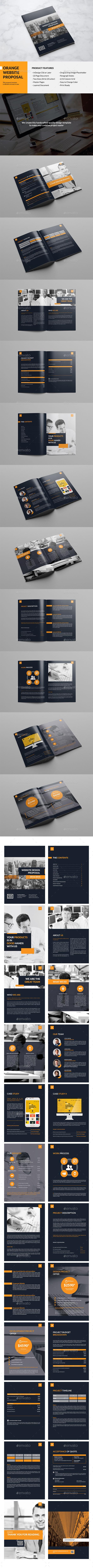 Orange Website Proposal - Proposals & Invoices Stationery