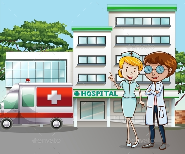 Hospital and Doctor - People Characters