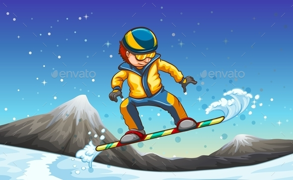 Snowboarding - People Characters