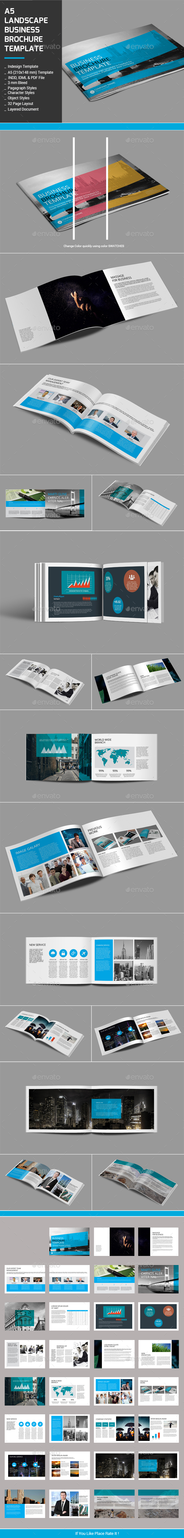 A5 Landscape Business Brochure Template - Proposals & Invoices Stationery