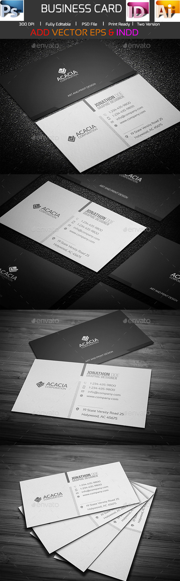 ACACIA BUSINESS CARD by ANCHORS | GraphicRiver