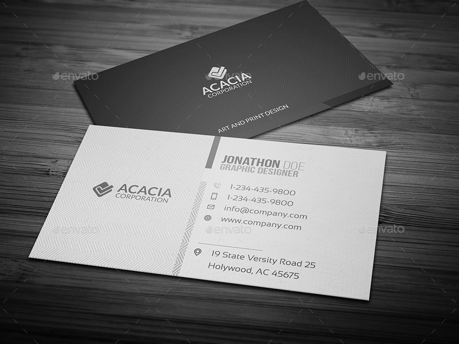 ACACIA BUSINESS CARD by ANCHORS   GraphicRiver