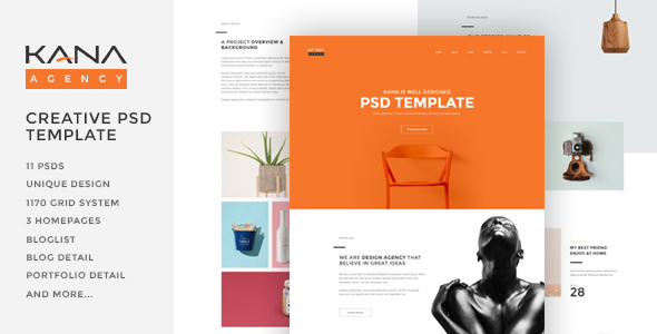 Kana – Creative Agency Psd Template