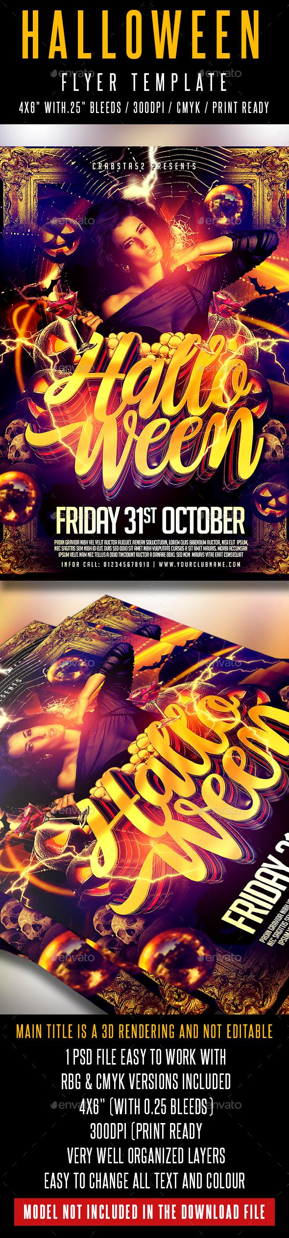Halloween Flyer Template - Flyers Print Templates