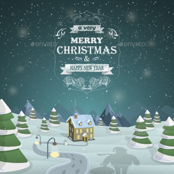 Christmas Eve Background Vector Illustration