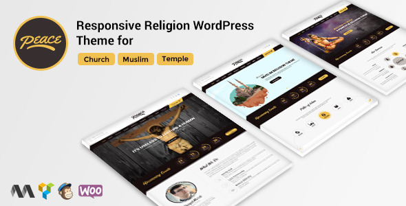 Peace – Church / Muslims / Temple WordPress Theme