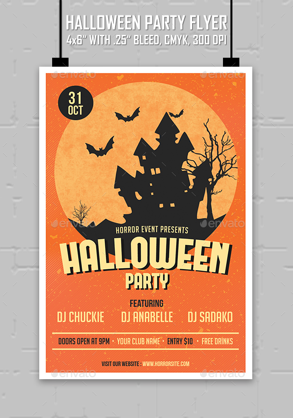 Halloween Party - Flyer - Clubs & Parties Events
