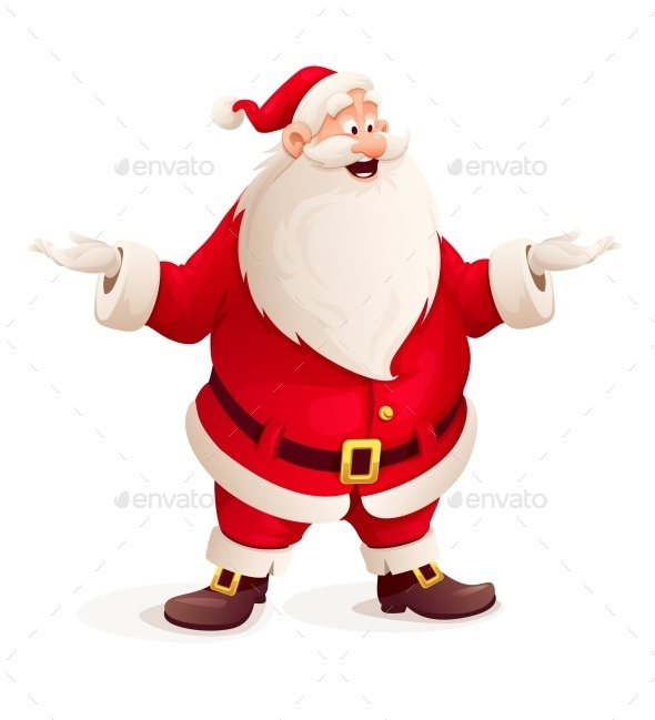 Santa Claus Throw Up Hands - Christmas Seasons/Holidays
