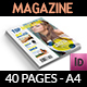 Top Magazine Template - 40 Pages - GraphicRiver Item for Sale