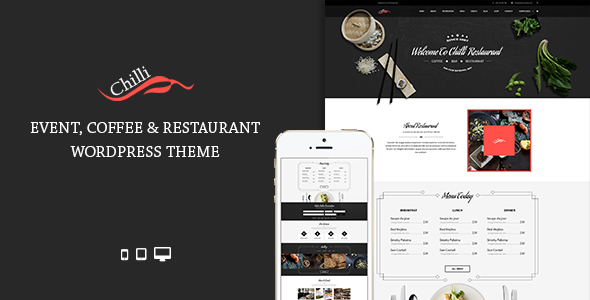 Chilli – Event Coffee & Restaurant WordPress Theme