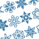 Decorative Snowflakes Vector Shapes Set 1 - GraphicRiver Item for Sale