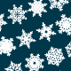 Decorative Snowflakes Vector Shapes Set 5 - GraphicRiver Item for Sale