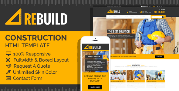 ReBuild – Construction & Renovation HTML Template