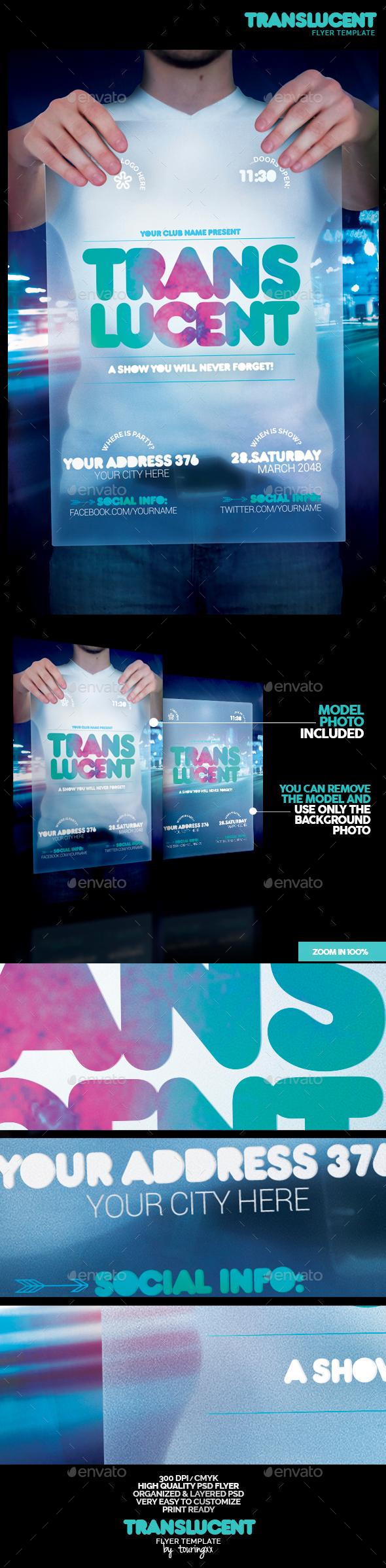 Translucent Flyer Template - Flyers Print Templates