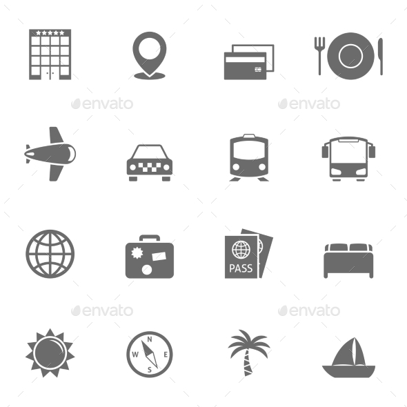 Travel Icons Set - Icons