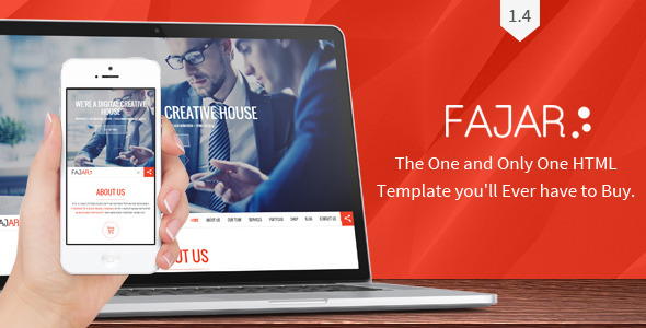 Fajar One Page Multi-Purpose Design - Business Corporate