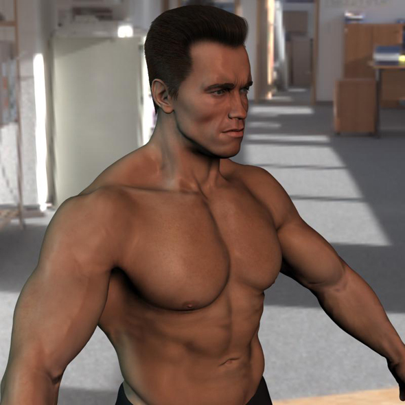 3d model Arnold Schwarzenegger body - 3DOcean Item for Sale