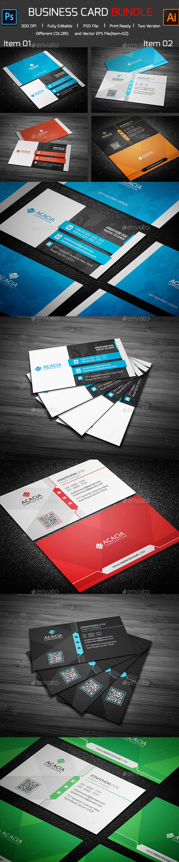 Bundle- 2 in 1 Business Card  - Corporate Business Cards