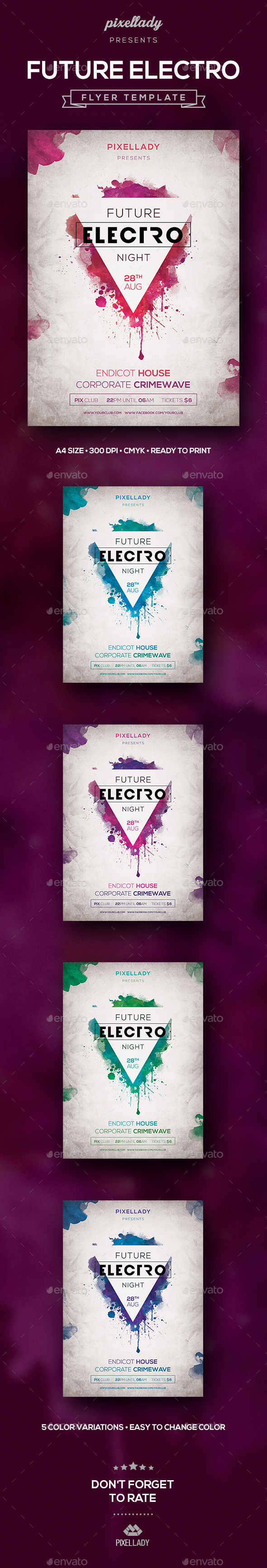 Future Electro Flyer - Flyers Print Templates
