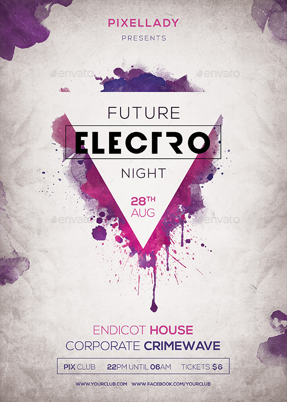 Future Electro Flyer by pixel_lady | GraphicRiver
