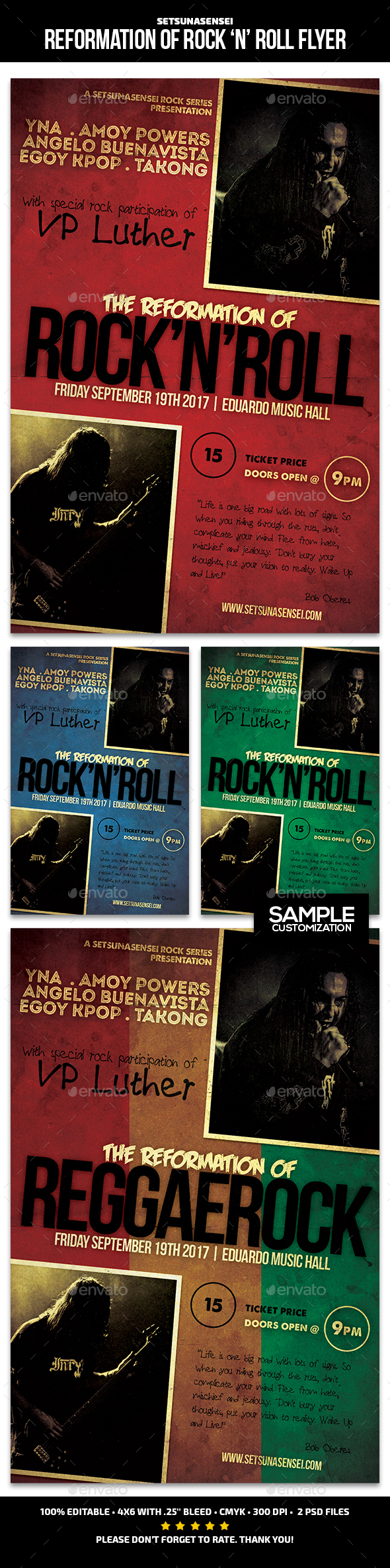 Reformation of Rock and Roll Flyer - Concerts Events