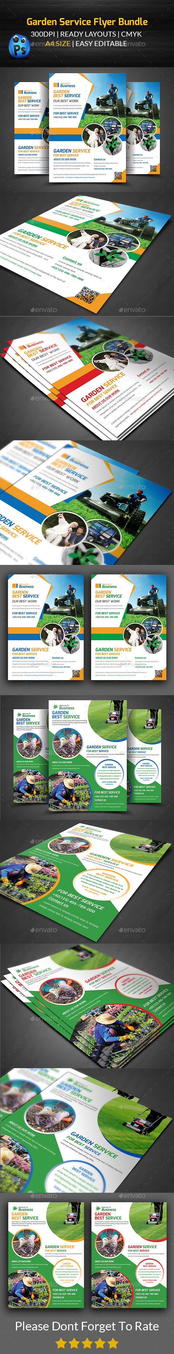 Garden Service Flyer Bundle - Corporate Flyers