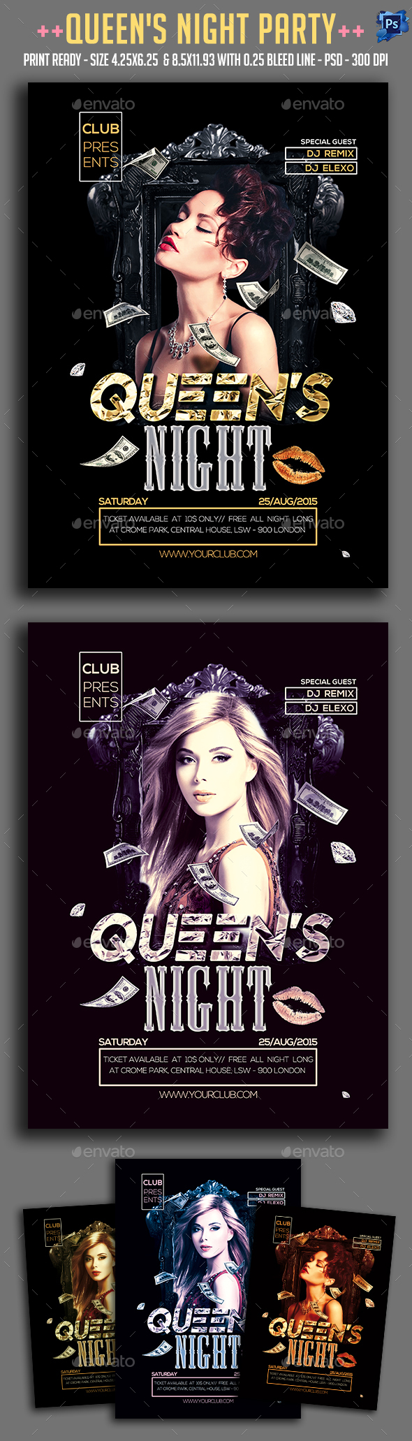 Queen's Night Party Flyer - Clubs & Parties Events