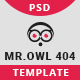 Mr.Owl 404 Error Page - GraphicRiver Item for Sale