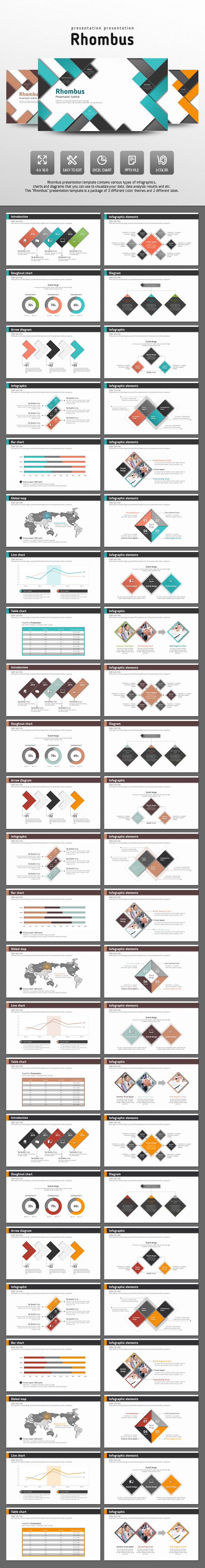 Rhombus - Abstract PowerPoint Templates