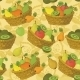Seamless Pattern, Baskets And Fruits - GraphicRiver Item for Sale