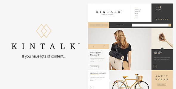 Kintalk – WordPress Creative Journal