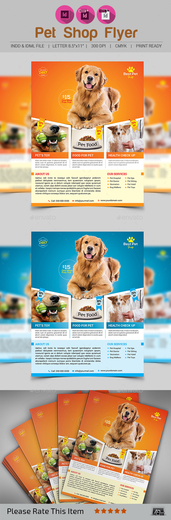 Pets Shop Flyer Template - Corporate Flyers