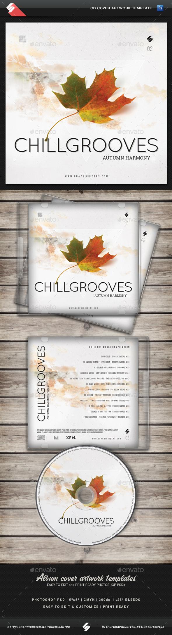 Chill Grooves 2 - CD Cover Artwork Template - CD & DVD Artwork Print Templates