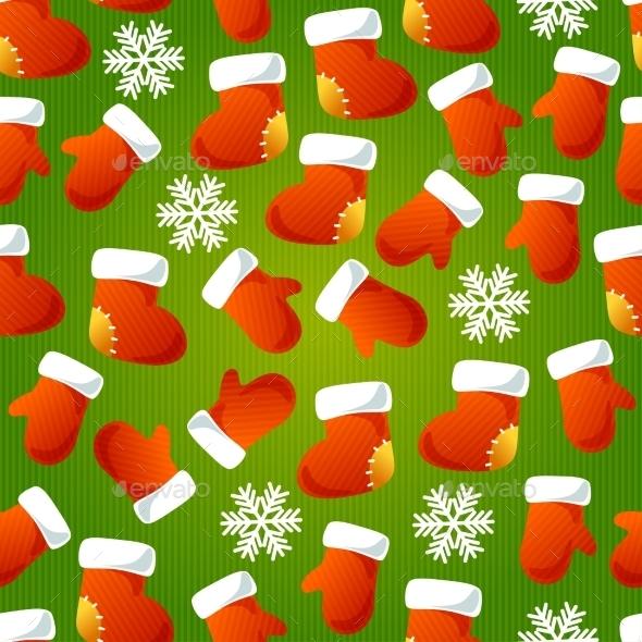 Xmas Striped Seamless Pattern. - Christmas Seasons/Holidays
